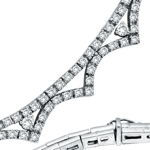 14K White Gold Diamond Pointy Necklace. Price: $7305.60