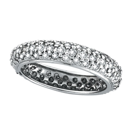 14K White Gold 1.57ct Diamond Band Eternity Ring. Price: $2707.20