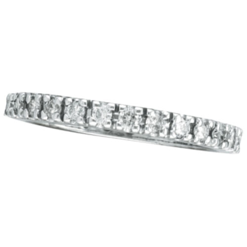 14K White Gold .51ct Diamond Eternity Stackable Guard Band Ring. Price: $820.80