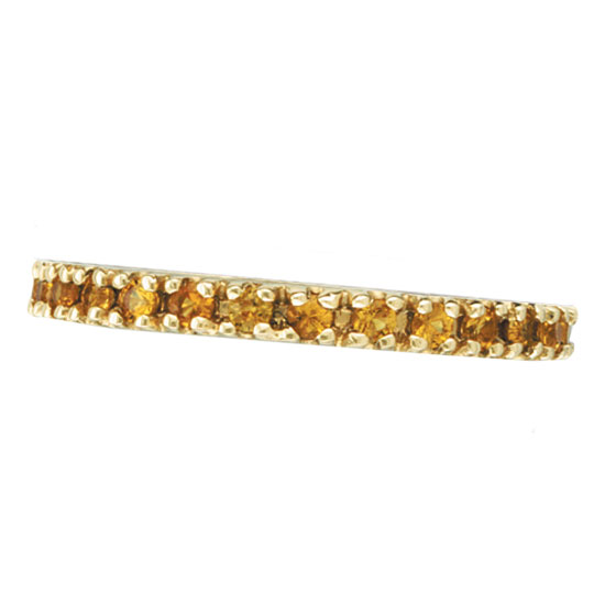 14K Yellow Gold Yellow Sapphire Eternity Guard Ring. Price: $546.24