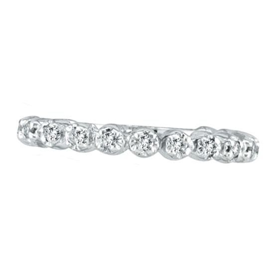 14K White Gold .20ct Diamond Eternity Stackable Guard Ring. Price: $345.60