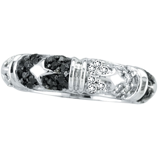 14K White Gold 1.00ct Black Diamond Mirrored Eternity Band. Price: $1296.00