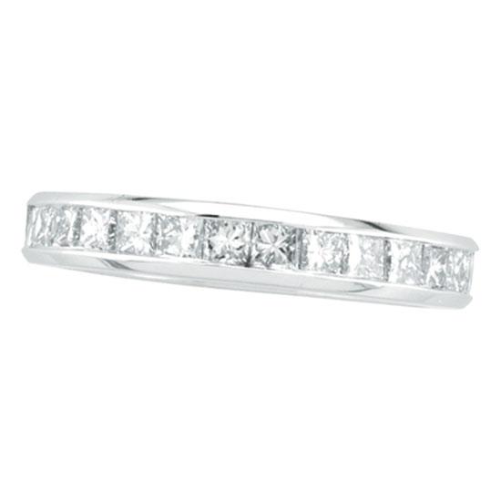 14K White Gold Princess Cut 1.56ct Diamond Eternity Band. Price: $3792.00