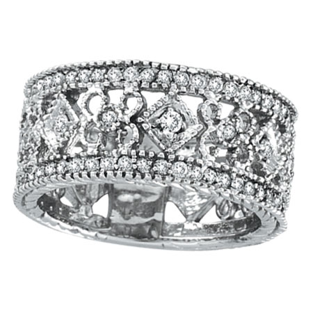 14K White Gold .66ct Diamond Deisgned Eternity Band. Price: $1234.56