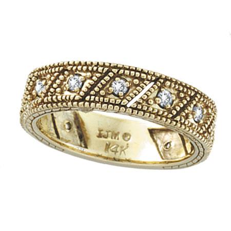 14K Yellow Gold .33ct Diamond Prong Setting Ring Band. Price: $624.00