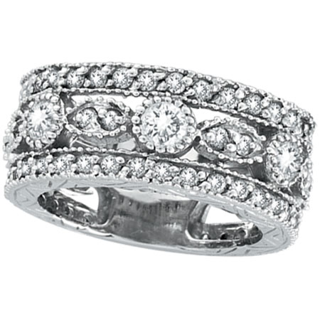 14K White Gold 2.15ct Diamond Large Eternity Ring Band. Price: $4080.00