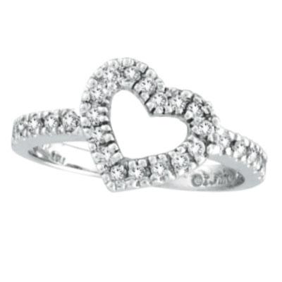 14K White Gold .40ct Diamond Heart-Shaped Ring. Price: $652.80