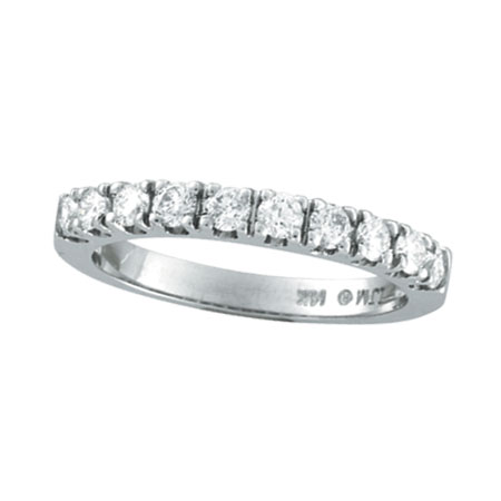 14K White Gold .57ct Diamond Wedding Band Ring. Price: $1200.00
