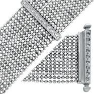14K White Gold Diamond Mesh Bracelet
