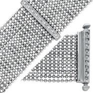 14K White Gold Diamond Mesh Bracelet