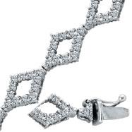 14K White Gold 2.52ct Diamond Fancy Bracelet,