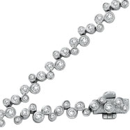 14K White Gold 2.21ct Diamond Bezel Set Bracelet