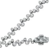14K White Gold 2.21ct Diamond Bezel Set Bracelet