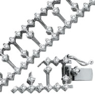 14K White Gold 3.38ct Diamond Fancy Bracelet