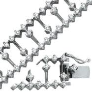 14K White Gold 3.38ct Diamond Fancy Bracelet