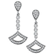 14K White Gold .52ct Diamond Chandelier Drop Earrings