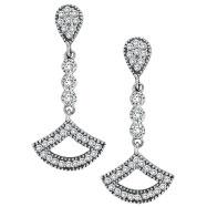 14K White Gold .52ct Diamond Chandelier Drop Earrings