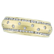 14K Gold Diamond Ring Eternity Band