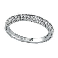 14K White Gold .31ct Diamond Wedding Band Ring