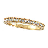 14K Yellow Gold .31ct Diamond Stackable Ring