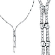 14K White Gold 2.11ct Diamond Symmetric Necklace