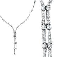 14K White Gold 2.11ct Diamond Symmetric Necklace