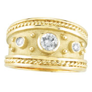 18K Yellow Gold .40ct Diamond Antique Style Ring