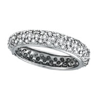 14K White Gold 1.57ct Diamond Band Eternity Ring