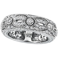 14K White Gold .87ct Diamond Designed Eternity Ring Band