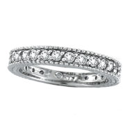 14K White Gold Thin 1.0ct Diamond Eternity Ring