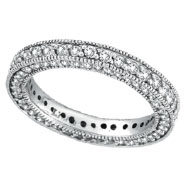 14K White Gold 3-Tier 1.51ct Diamond Eternity Band Ring