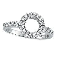 14K White Gold .40ct Diamond Circle Ring