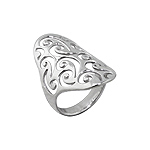 Sterling Silver Cut out Curls Ring