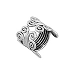 Sterling Silver Scroll Design Open Ring