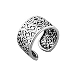 Sterling Silver Thai Pattern Free Size Ring