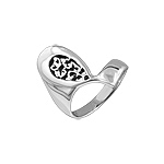 Sterling Silver Filigree Tear Drop Ring