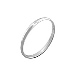 Sterling Silver 2mm Wedding Band