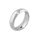 Sterling Silver 6mm Wedding Band