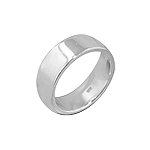 Sterling Silver 8mm Cigar Band