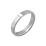 Sterling Silver 4mm Cigar Band
