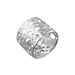 Sterling Silver 16mm Bubbles Band