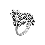 Sterling Silver Laurel Branches and Leaves Ring