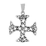 Sterling Silver Celtic Knot Cross Pendant