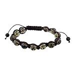10mm Smokey Quartz Beads and Brown String 12 Bead Shamballa Bracelet