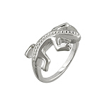 Sterling Silver Patterned Spine Lizard Ring
