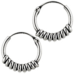 Sterling Silver 15mm Thick Spiral Hollow Tube Hoop Earrings