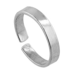 Sterling Silver 3mm Cigar Band Toe Ring