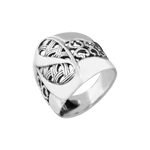 Sterling Silver Threads and Curls Ring