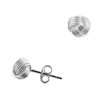 Designer Inspired Sterling Silver 7mm Mesh Knot Stud Earrings