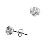 Designer Inspired Sterling Silver 7mm Mesh Knot Stud Earrings
